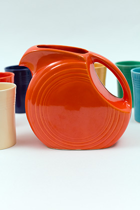 Vintage FIestaware 7 Piece Juice Set