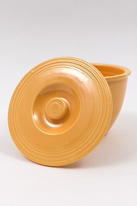 Vintage Fiesta Number One Mixing Bowl Lid in Original Yellow Glaze