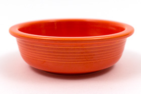 Red Vintage Fiestaware Red Berry Bowl For Sale