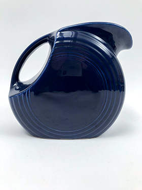 Fiesta Disk Pitcher in Cobalt