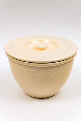 Vintage Fiesta Number Four Mixing Bowl Lid in Original Ivory Glaze