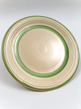 Vintage Fiesta Green Stripe Plate For Sale 30s 40s Collectable Tableware