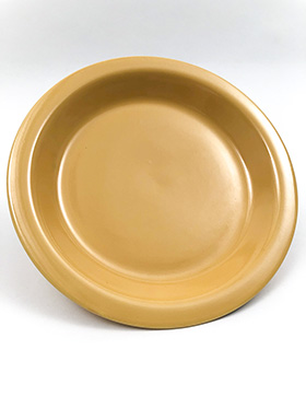 Kitchen Kraft Pie Plat in Original Yellow: Hard to Find Go-Along Fiestaware Pottery For Sale