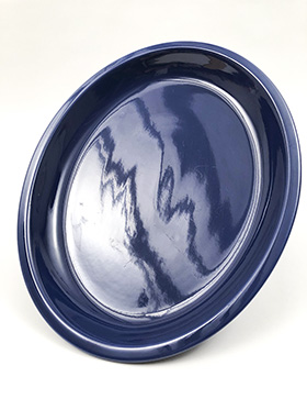 Kitchen Kraft Platter in Original Blue: Hard to Find Go-Along Fiestaware Pottery For Sale