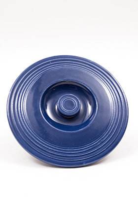 Vintage Fiesta Number One Mixing Bowl Lid in Original Cobalt Blue Glaze