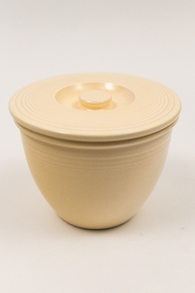 Vintage Fiesta Number One Mixing Bowl Lid in Original Ivory Glaze