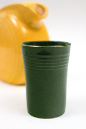 Rare Fiesta Vintage Forest Green Juice Tumbler Woolworths Rhythm Promotional 50s