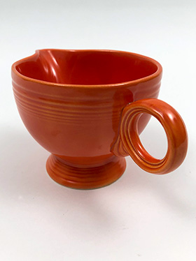 Vintage Fiesta Ring Handled Creamer in Original Red Glaze