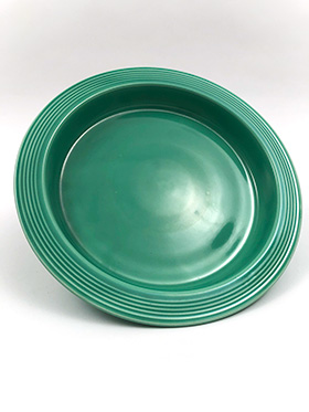 Fiesta Relish Tray Base in Original Green Glaze