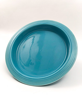 Fiesta Relish Tray Base in Original Turquoise Glaze