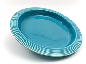 Vintage Fiesta Relish Tray Base in Original Turquoise Glaze