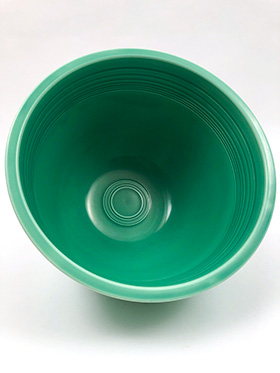 Red Vintage Fiesta Mixing Bowl Number 6 Green Nesting Bowl For Sale