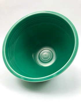 Green Vintage Fiesta Mixing Bowl Number 6 Green Nesting Bowl For Sale