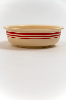 Rare Vintage Fiesta Red Stripe Bowl Fiestaware for Sale Collectable Pottery 1930s Ivory Hand Painted Graduating Red Stripes