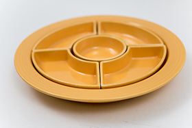 Fiesta Relish Tray: Complete, Original All Yellow Vintage Fiestaware For Sale