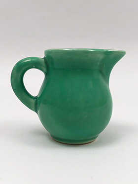 Vintage Homer Laughlin Woolworths Toy Individual Creamer in Original Light Green Glaze for Sale