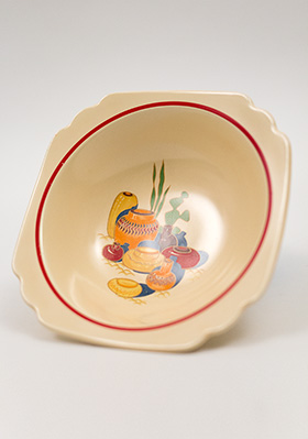 Vintage Mexicana Decalware Homer Laughlin Oatmeal Bowl