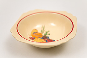 Vintage Homer Laughlin Century Mexican Decalware Oatmeal Bowl