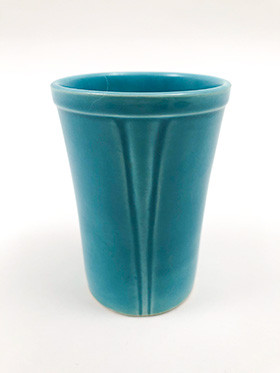 Riviera Pottery and Fiesta Dinnerware  for Sale: Turquoise  Juice Tumbler from vintagefiestaware.com