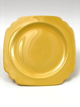 Vintage Riviera Pottery Ten Inch Dinner Plate in Original Yellow Glaze