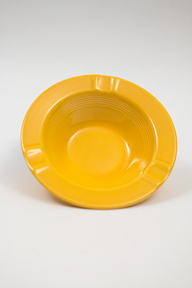 Harlequin Pottery Regular Ashtray in Harlequin Yellow