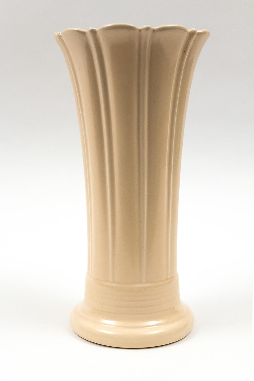 Vintage Fiesta 10inch Flower Vase In Original Ivory Glaze