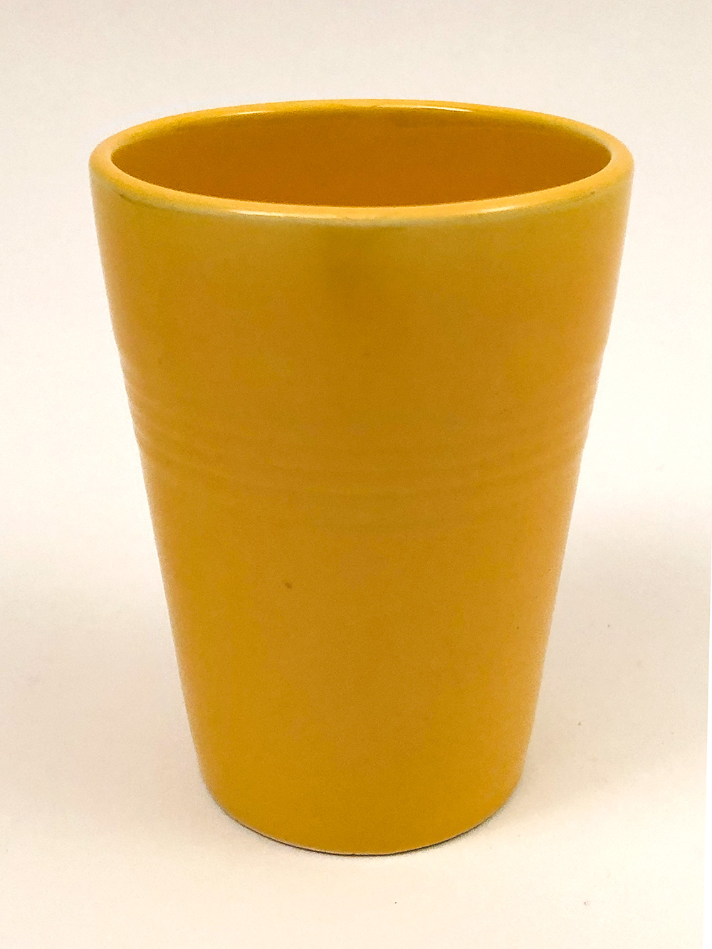yellow harlequin homer laughlin tumbler for sale