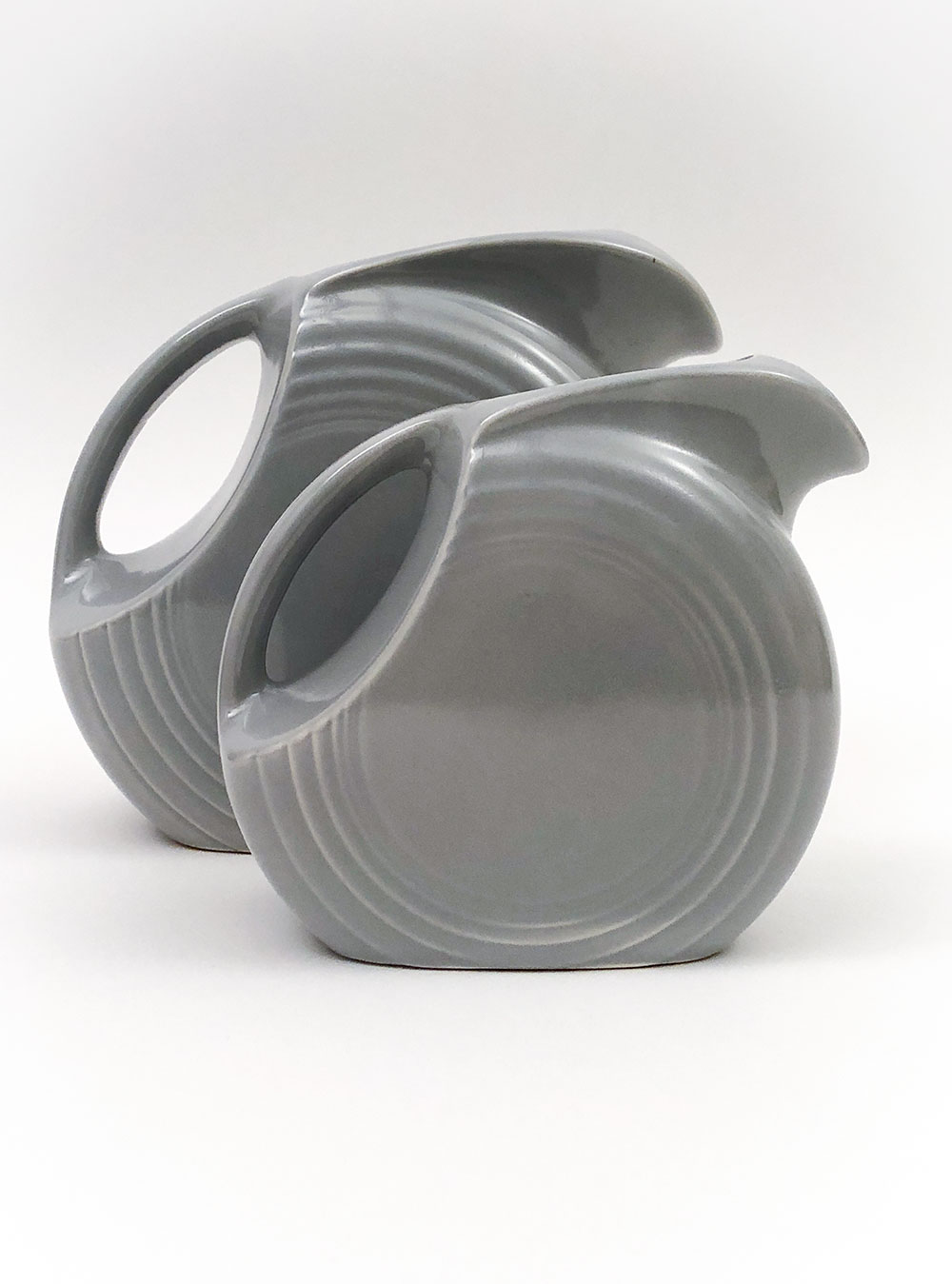 vintage fiesta gray disc juice pitcher