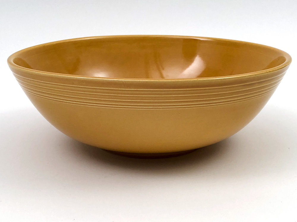fiesta ironstone jumbo salad bowl in antique gold