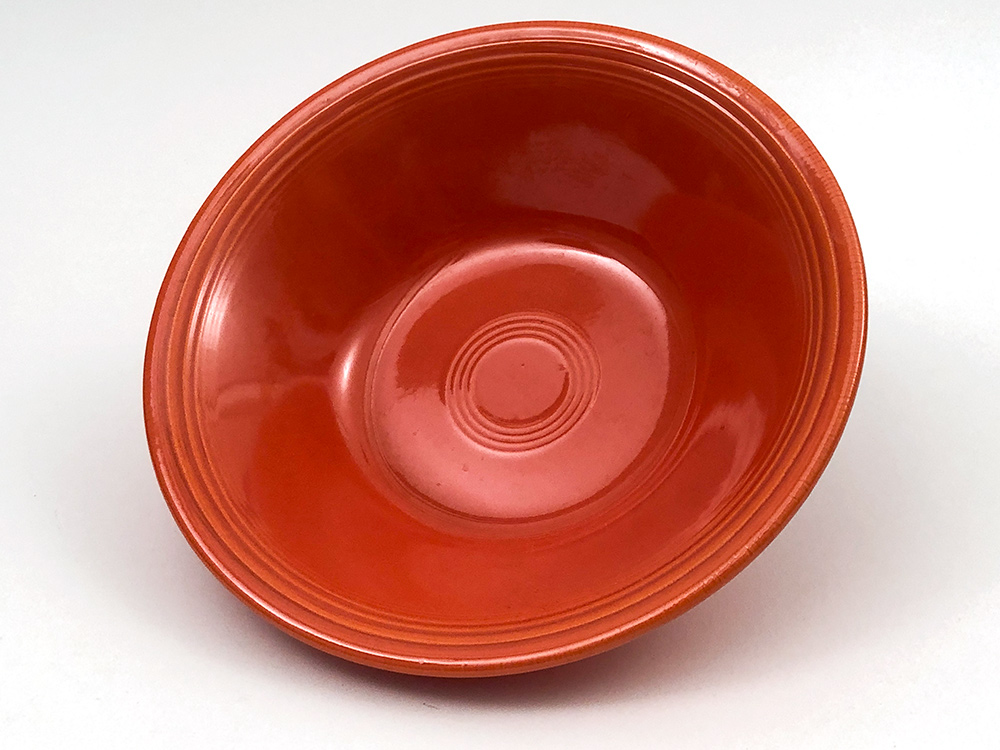 fiesta mango red ironstone vegetable bowl