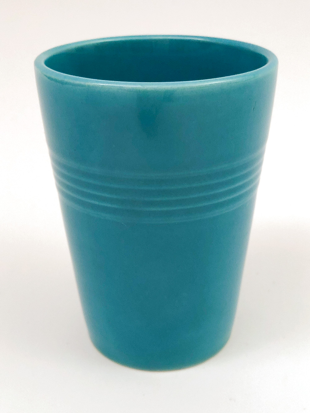 turquoise harlequin homer laughlin tumbler for sale