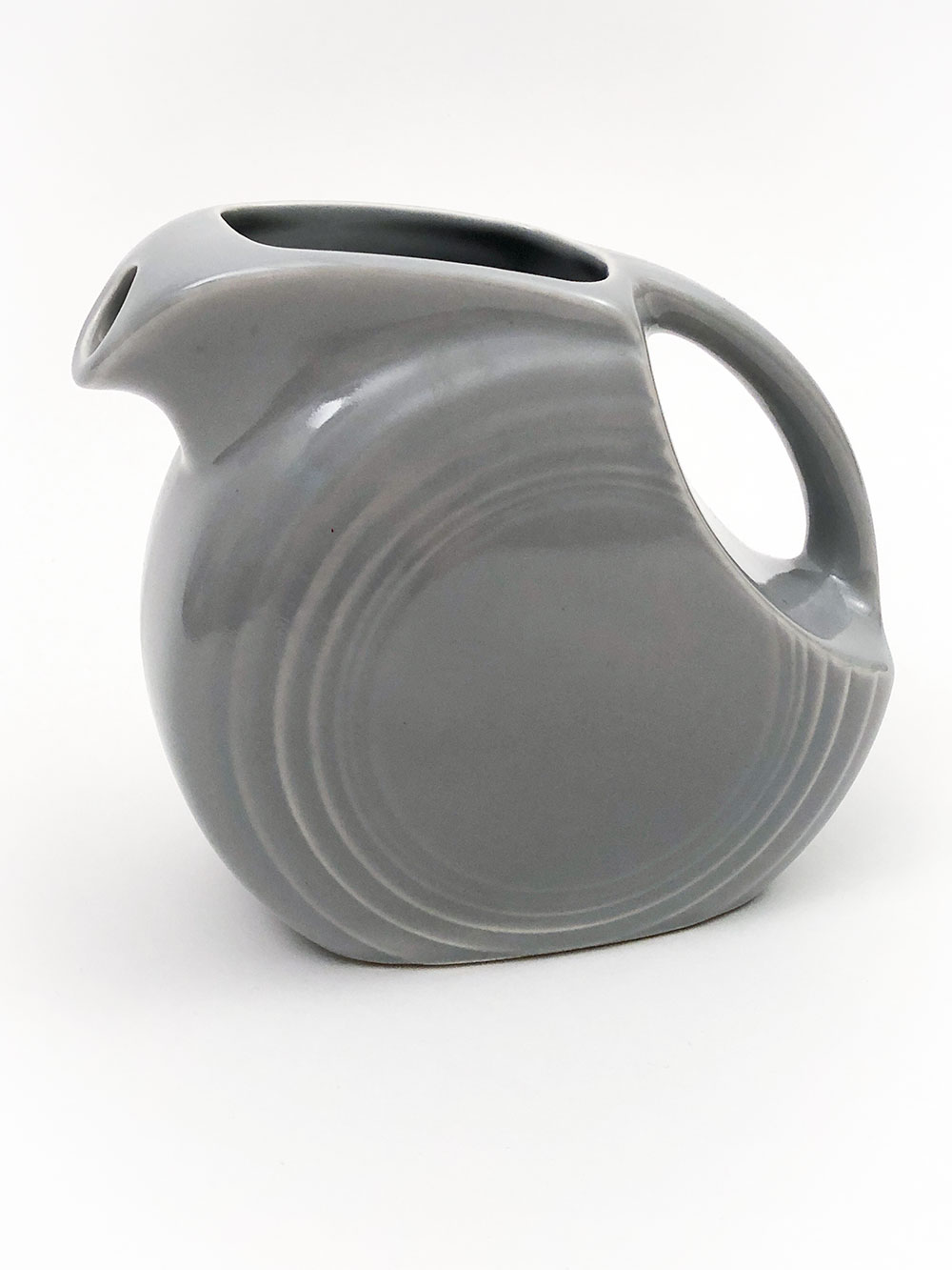 rare original gray vintage fiestaware disc juice pitcher