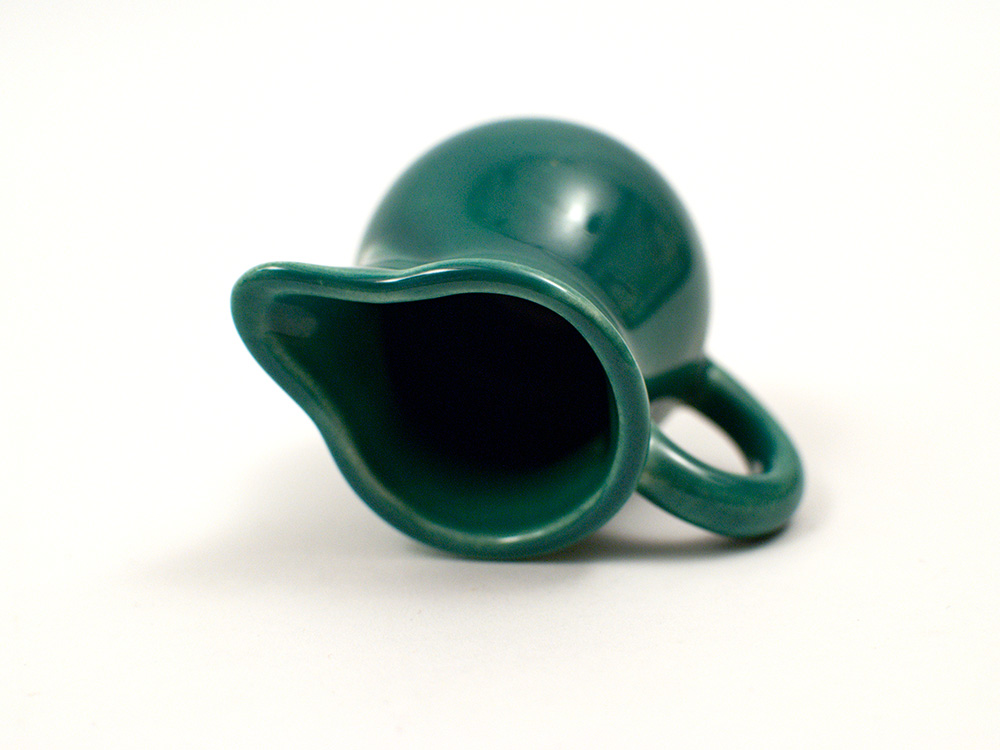 spruce green harlequin individual toy creamer for sale