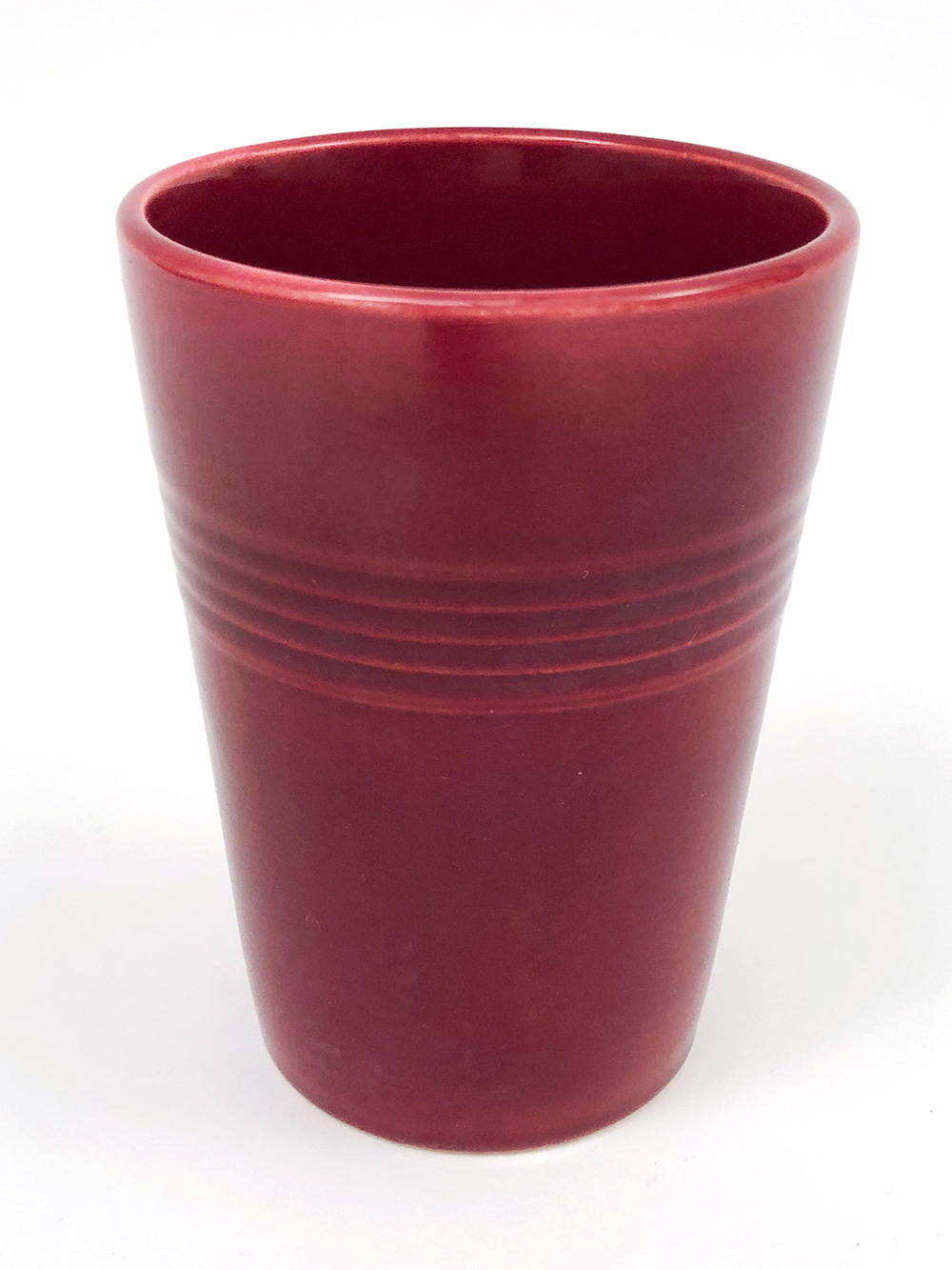 maroon harlequin homer laughlin tumbler for sale