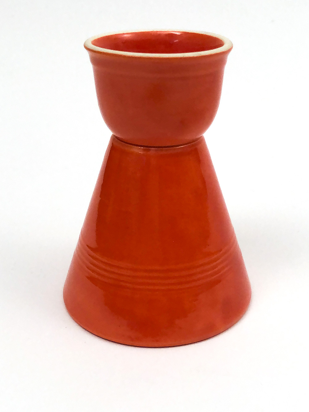 fiesta original red harlequin single egg cup for sale