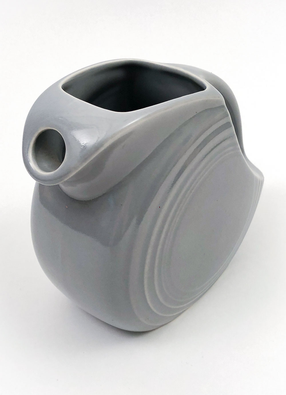 spout view fiestaware gray juice pitcher