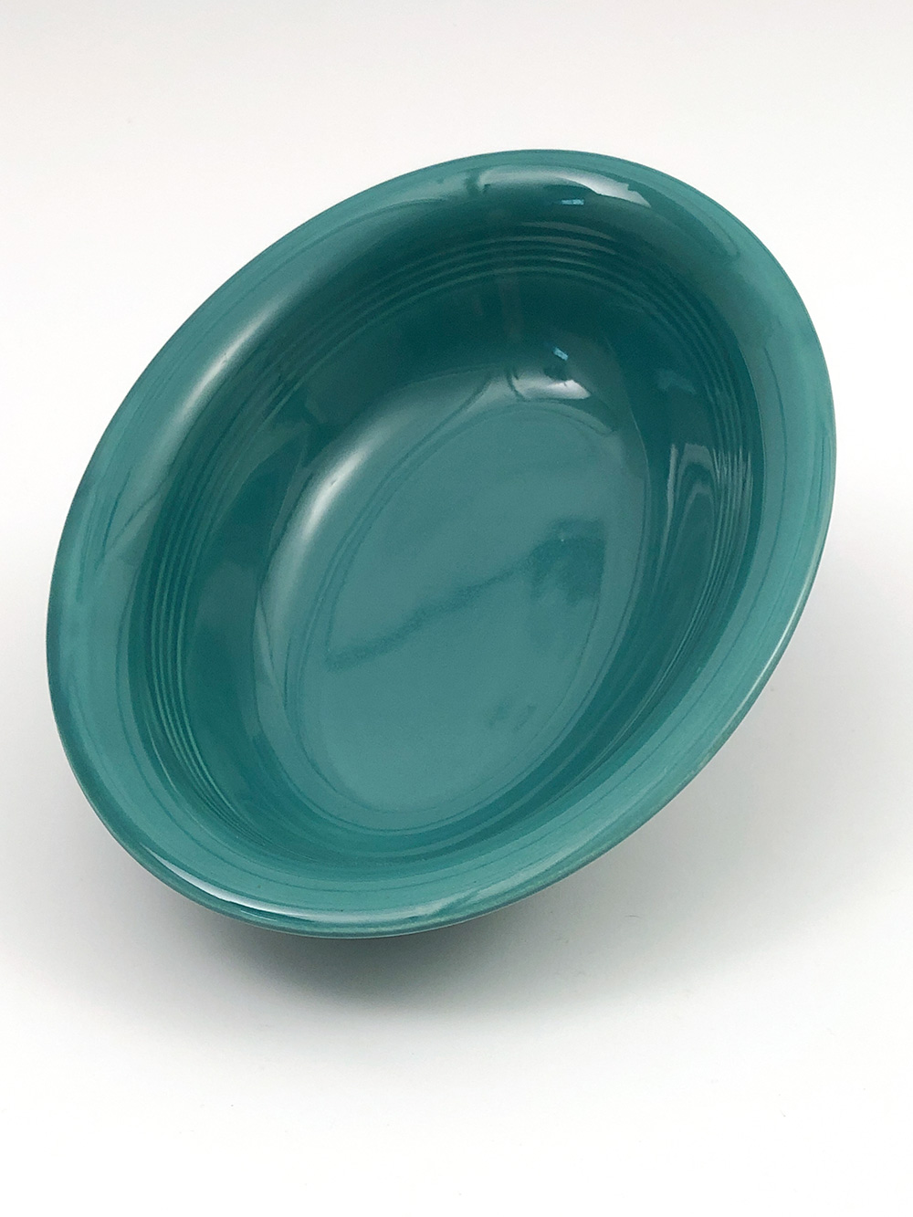 spruce green harlequin oval baker bowl