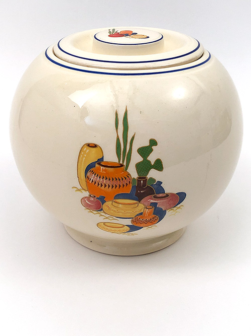 Mexicana Fiesta Kitchen Kraft Rare Cookie Jar: Covered Ball Jar For Sale Fiestaware