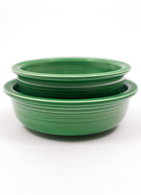 Vintage Fiesta 4inch Berrry Bowl in Medium Green Glaze