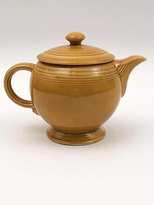 Antique Gold Fiesta Ironstone Teapot 1969 to 1973