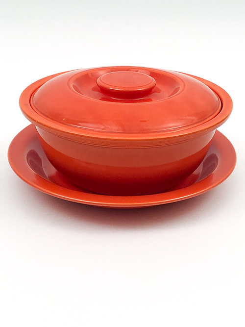 Original Green Kitchen Kraft Casserole with Metal Holder: GoAlong Fiestaware Pottery For Sale