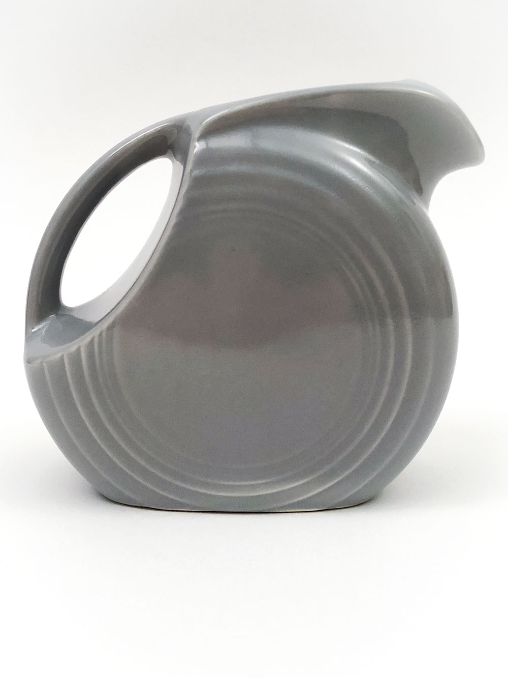rare fiesta gray juice pitcher
