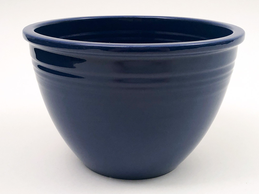 inside view Number 4  cobalt blue vintage fiesta mixing bowl