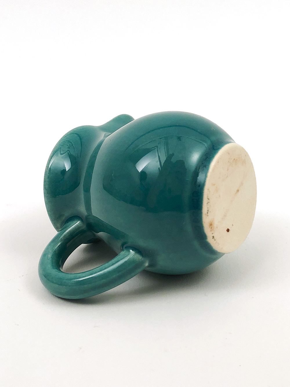 worlds fair toy individual creamer in harlequin spruce green