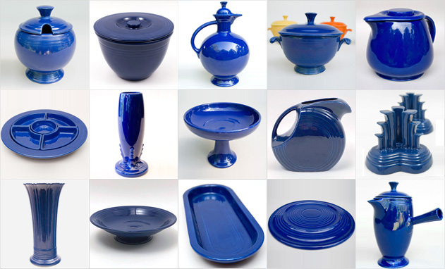 Cobalt Blue Fiestaware Vintage Fiesta 1930s 1940s 1950s Solid Color Ringware Mix Match Tableware Homer Laughlin Pottery