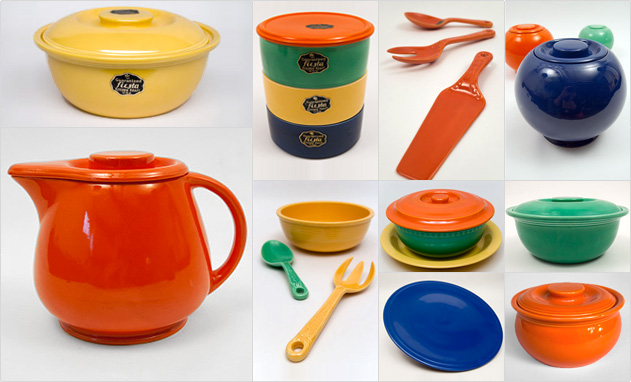 Fiesta Kitchen Kraft Fiestaware Homer Laughlin Solid Color Collectable Pottery