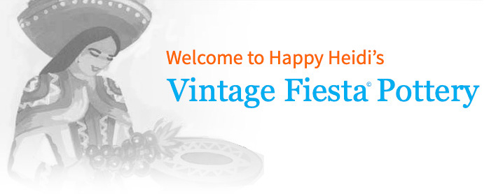 Happy Heidi's Vintage Fiesta Pottery Website