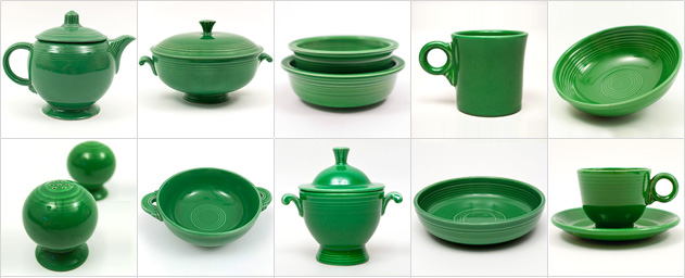 Medium Green Fiesta Fiestaware Vintage 1950s 1960s Color Homer Laughlin Collectable Pottery