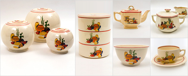 Mexicana Decalware 1930s 1940s Homer Laughlin Fiestaware Southwestern Tableware