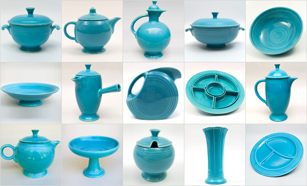 Turquoise Fiestaware Vintage Fiesta 1930s 1940s 1950s 1960s Solid Color Ringware Mix Match Tableware Homer Laughlin Pottery